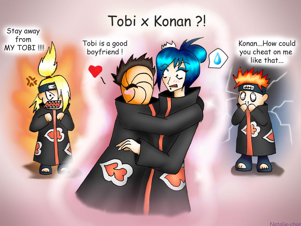Tobi X Konan by Natalie-chan on DeviantArt