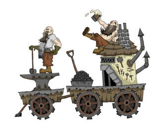 The Salter Brothers Mobile Forge and Smithy by 1sinmuse