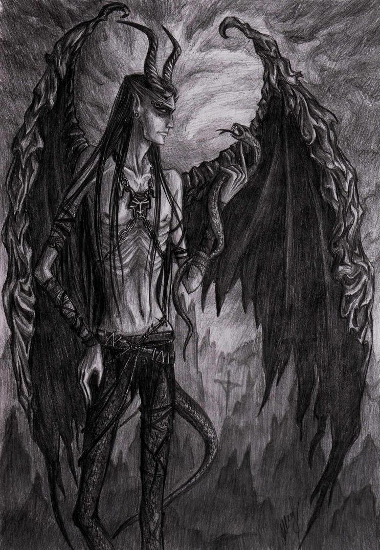 daemon black wallpaper