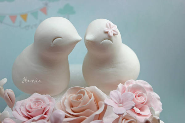 Love Birds gum paste by i-be-c