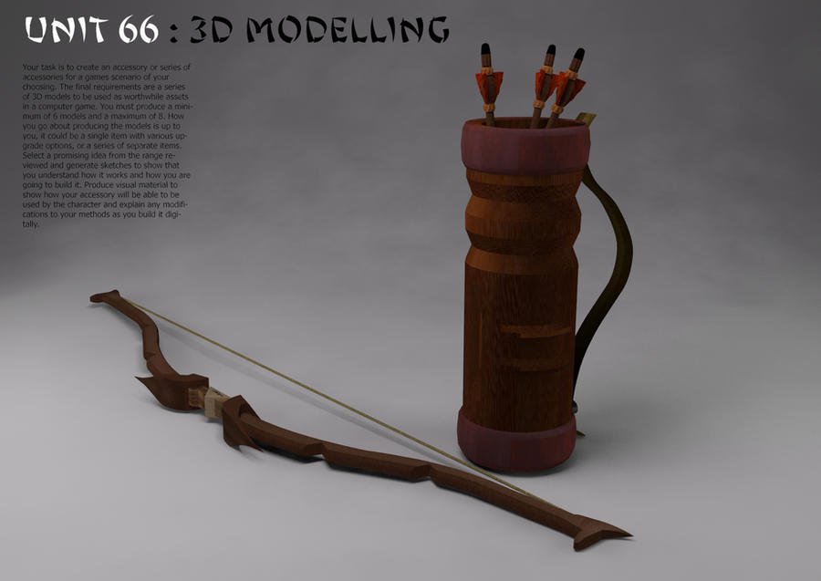 Bow, Arrows and Quiver 3D Models by jakus333 on DeviantArt
