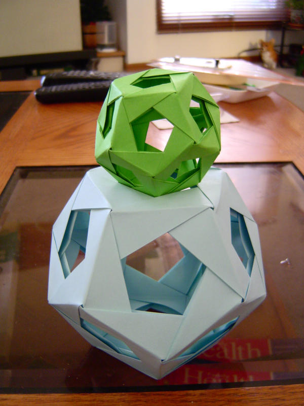 origami skeletal dodecahedron by jazzeria on deviantart