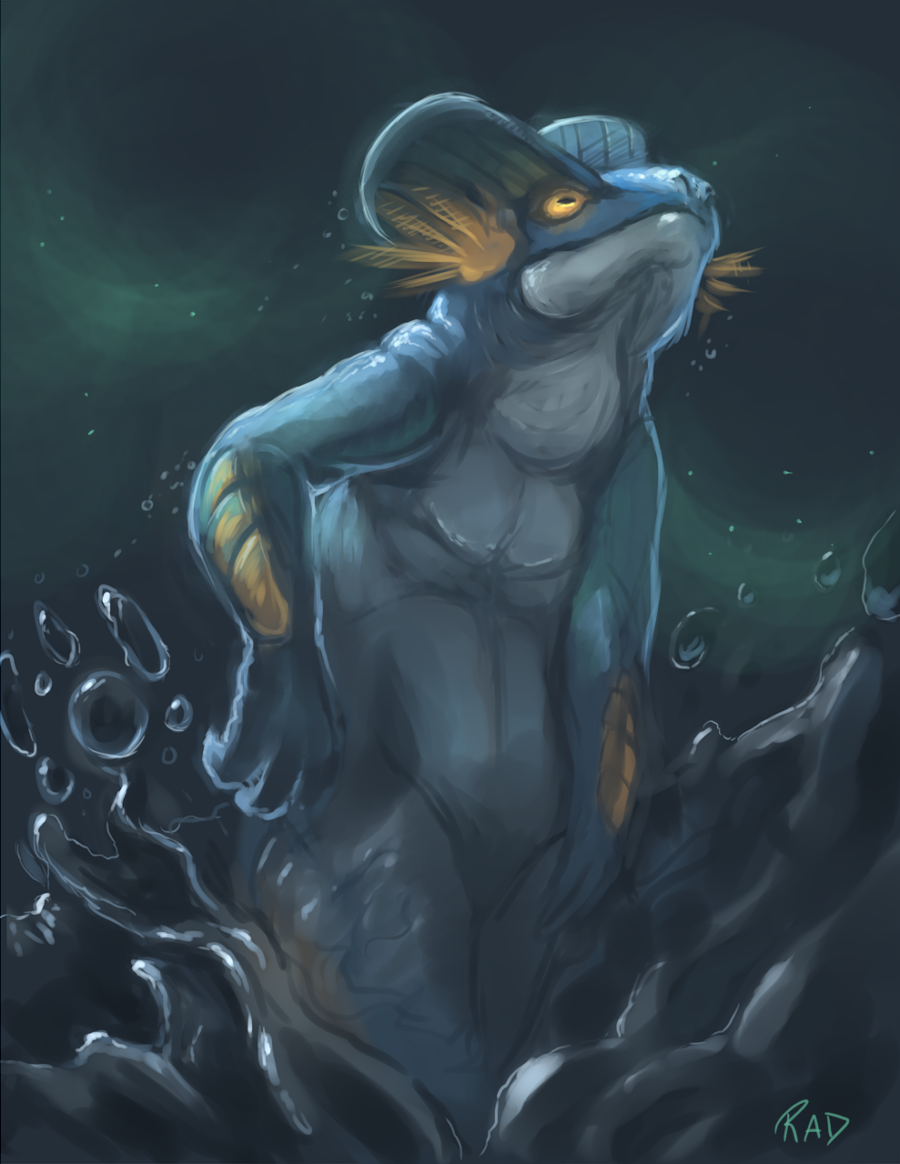 Swampert Speedpaint by rajewel