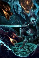 Commission: Magicbunbun 2- 3 on 1 by rajewel
