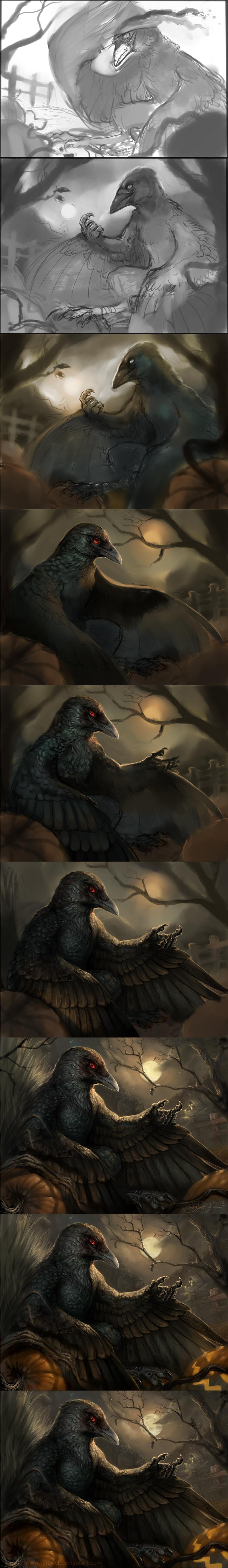 Halloween Progress by rajewel