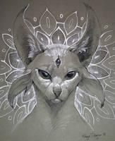 Inktober - Psychic by rajewel