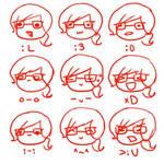 Gamer Girl's Emote Sheet