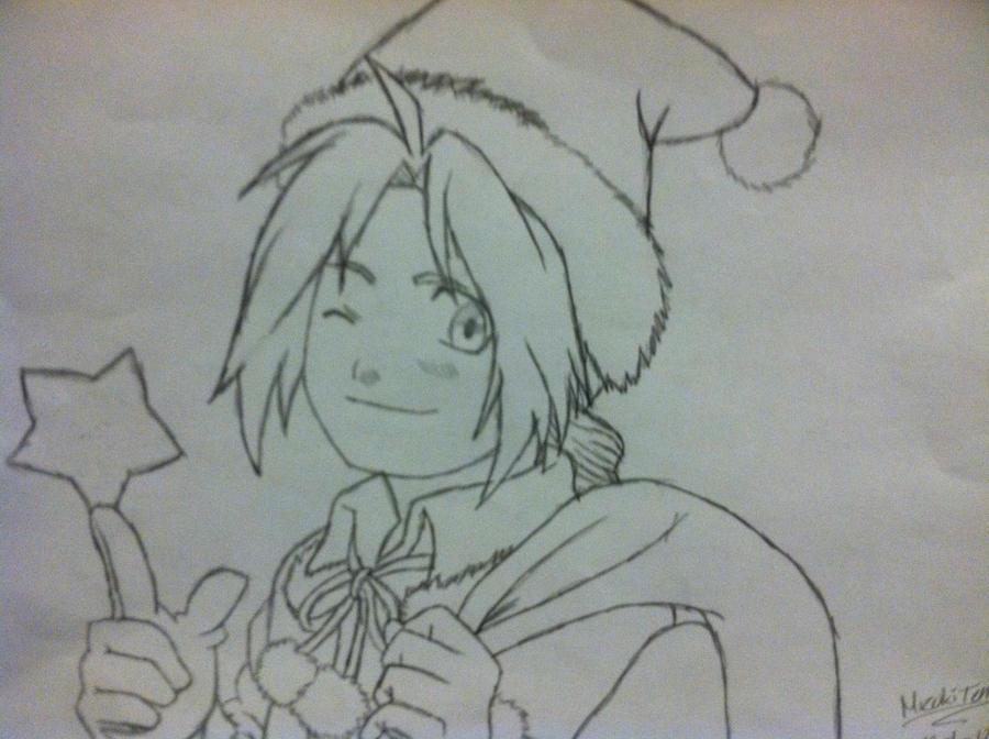 FMA - Edward Elric - Merry Christmas! by MizukiTenshi
