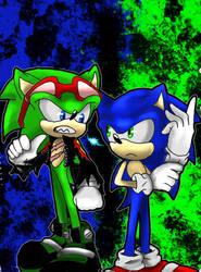 rivals blue vs green (sonic VS scourge)
