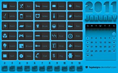 January Calendar 2011 by FSGdesigns