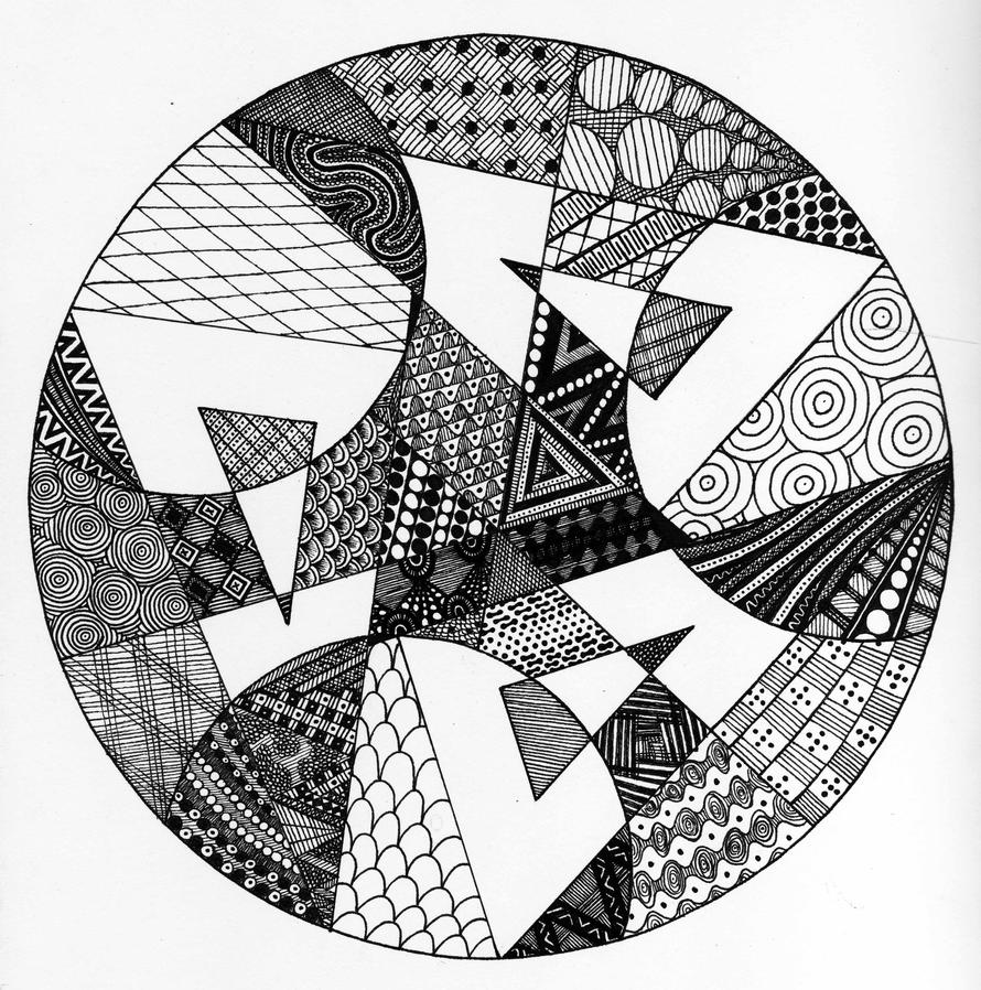 Geometric Line Drawing Artists : Geometric zendala by elistax on deviantart