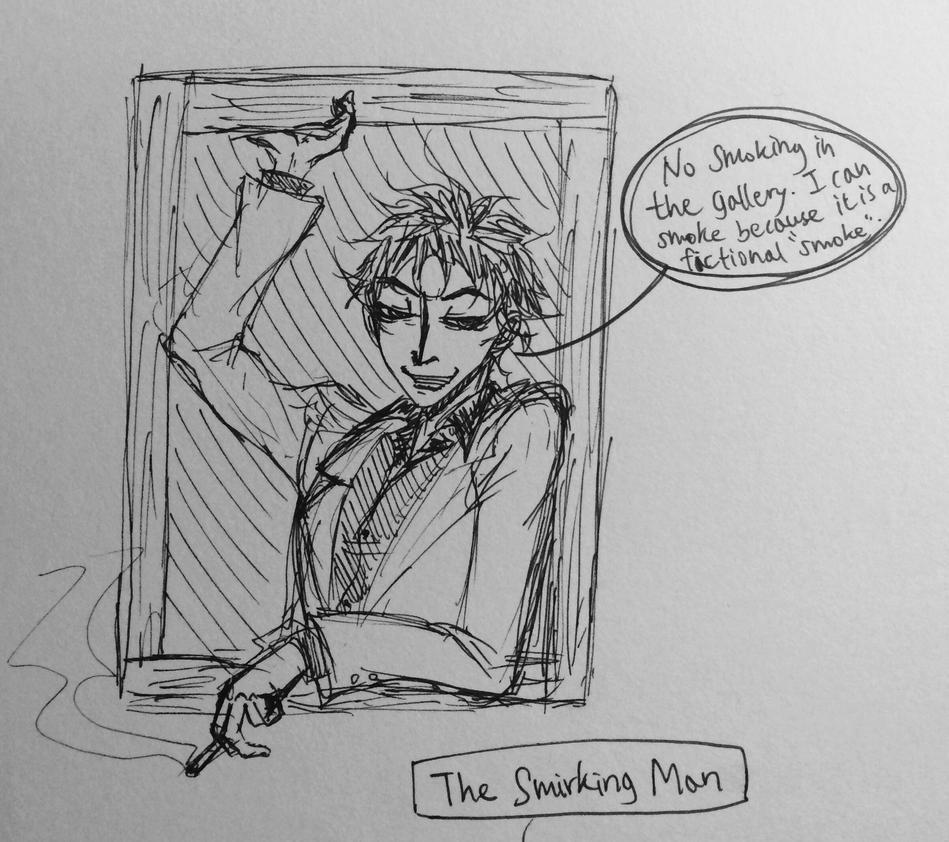 The Smirking Man by Jinjintszkam