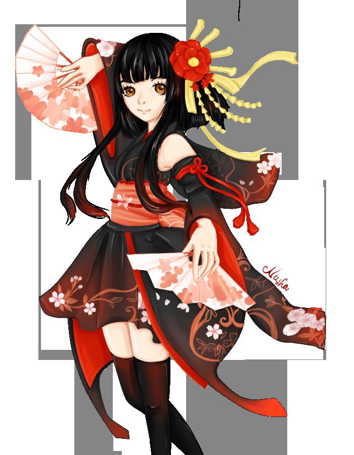 Kimono Girl by ReverieShiratori-kuu on DeviantArt