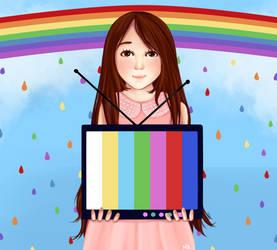 Rainbow tv by Natzyr
