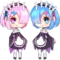 RE Zero: Ram and Rem by Nelliette