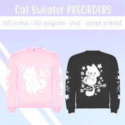 Cat sweaters - PREORDER