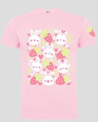 Strawberry + Bunny tshirt design