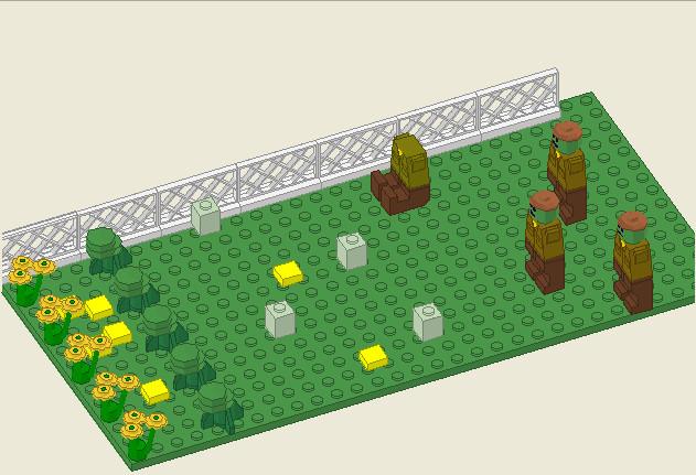 Plants vs zombies lego version by richpuma