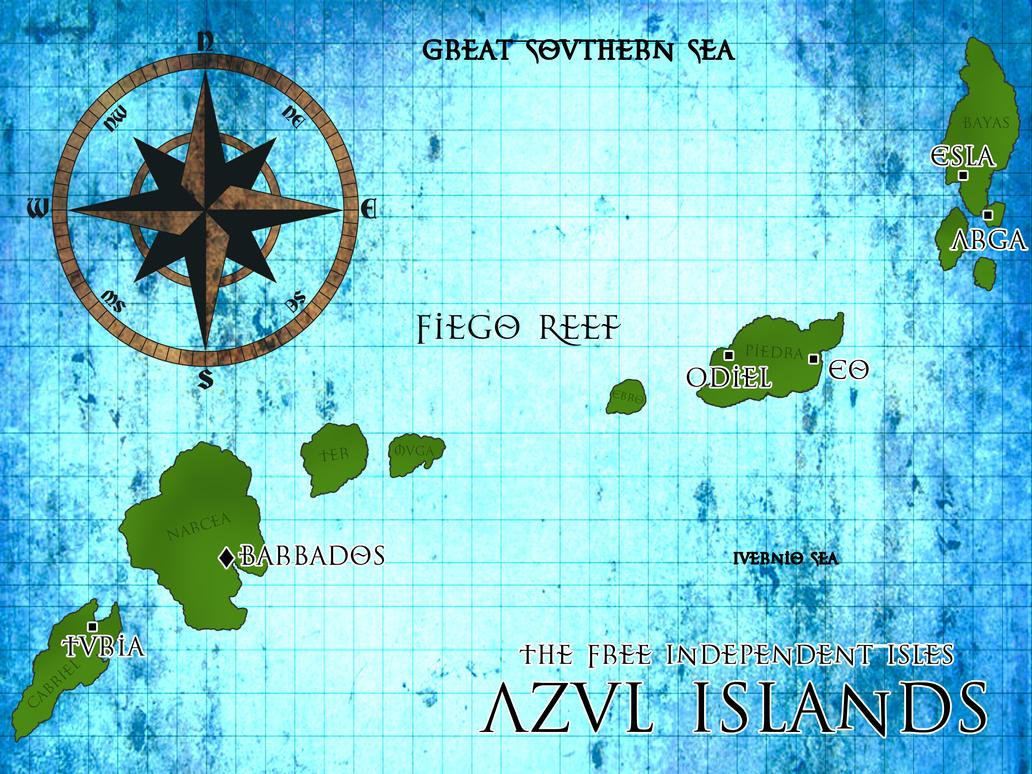 Azul Islands Map Basic by HACHI-HANA