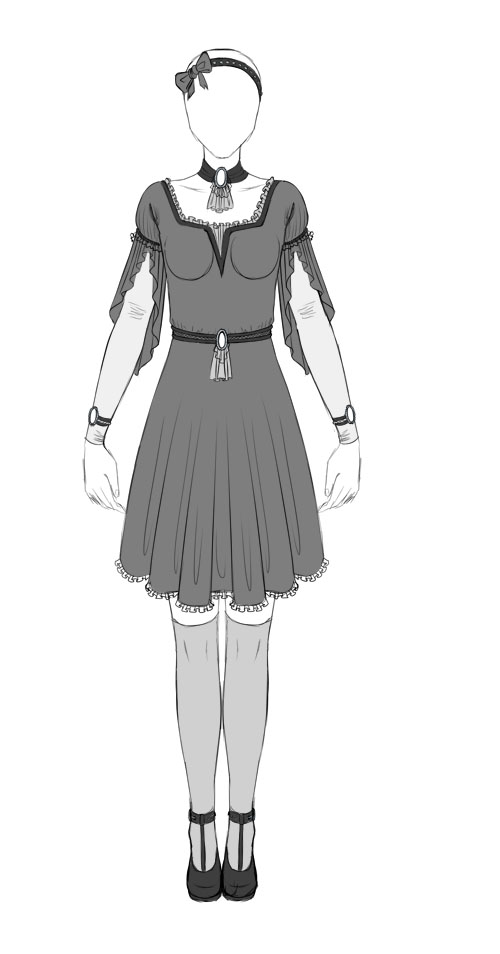 Adoptable: dress by ThingsForAdopting