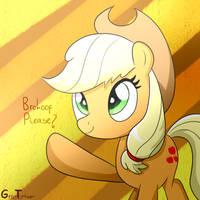 Applejack Wants a Brohoof by GrayTyphoon