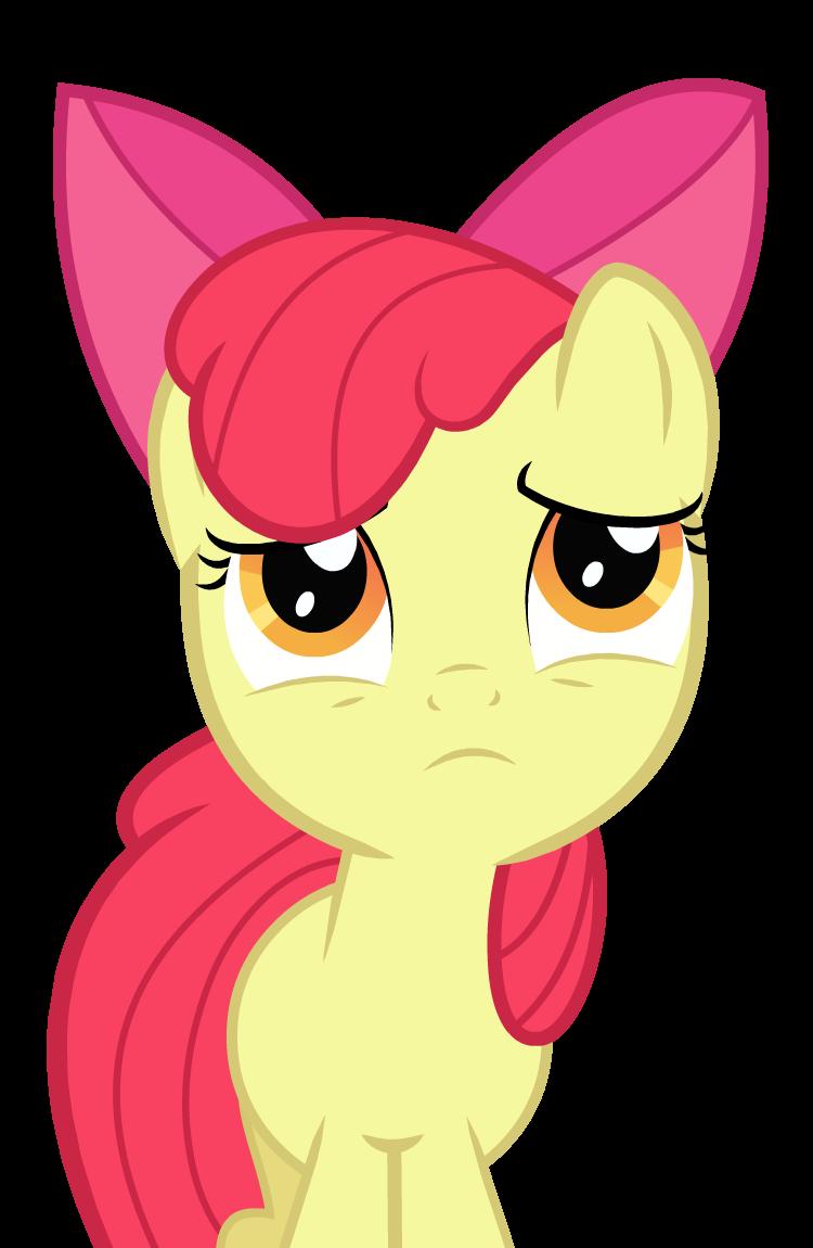 Sad Applebloom by GrayTyphoon on DeviantArt