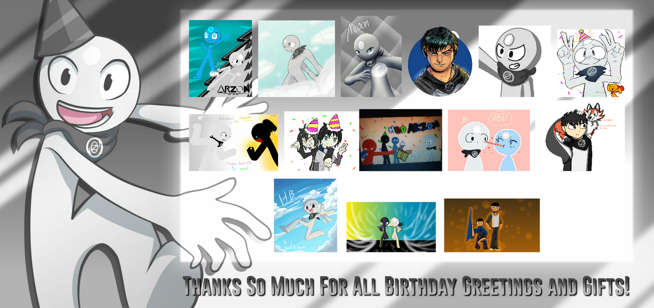 Thanks So Much For All Birthday Greetings And Gift By Graytyphoon On