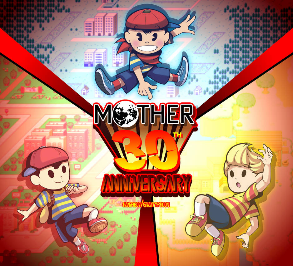 Mother/Earthbound 30th Anniversary by GrayTyphoon on DeviantArt