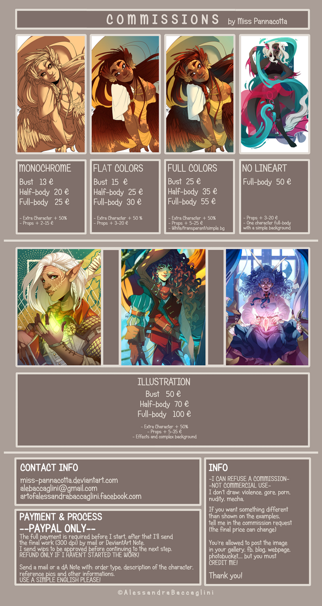 COMMISSIONS INFO: CLOSED by Miss-Pannacotta