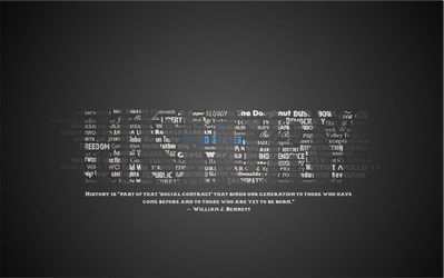 History Typography Wallpaper by ebturner