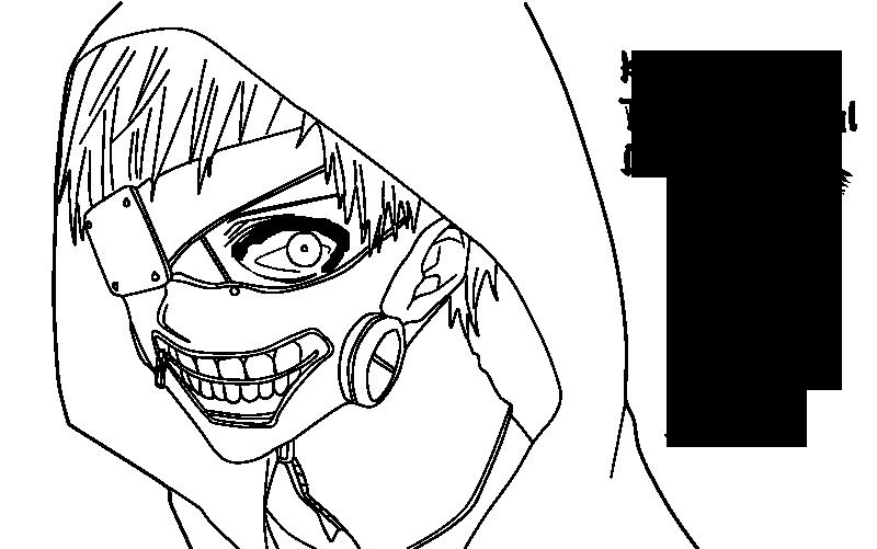 kaneki ken  tokyo ghoul  lineart by irsyada007 on deviantart