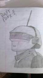 Daft Punk 1/2 drawing - Thomas