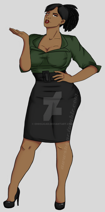 Commission - plus size pin up by OhhSugar on DeviantArt