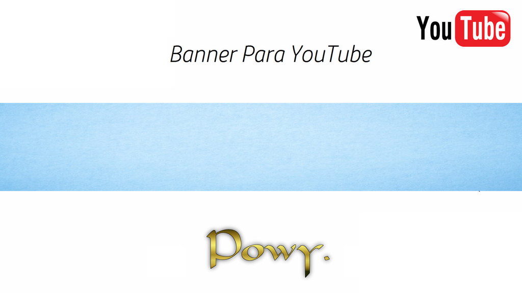 Banner Para Youtube Fondo Pastel Azul By Powy by Lahpowyh on ...