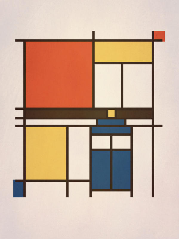 Mondrian Who by perdita00