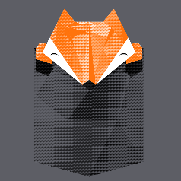 Low Poly Pocket Fox by perdita00