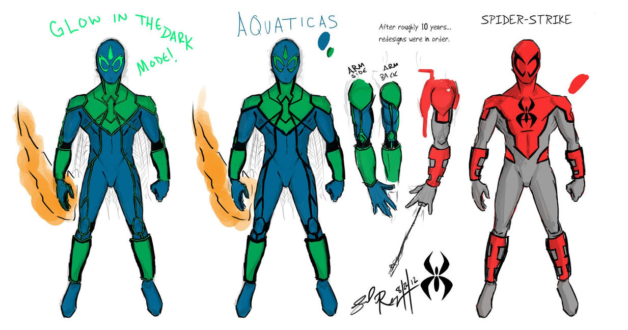 Aquaticas and Spider-Strike by Genko