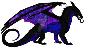 Galaxy NightWing Adoptable [OPEN] by distrupe