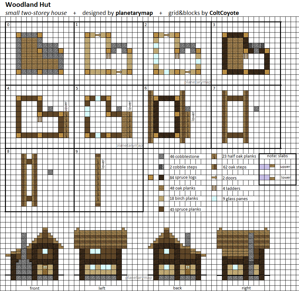Minecraft floorplan small farmhouse by ColtCoyote on DeviantArtWoodland Hut   Small Minecraft House Blueprint by planetarymap