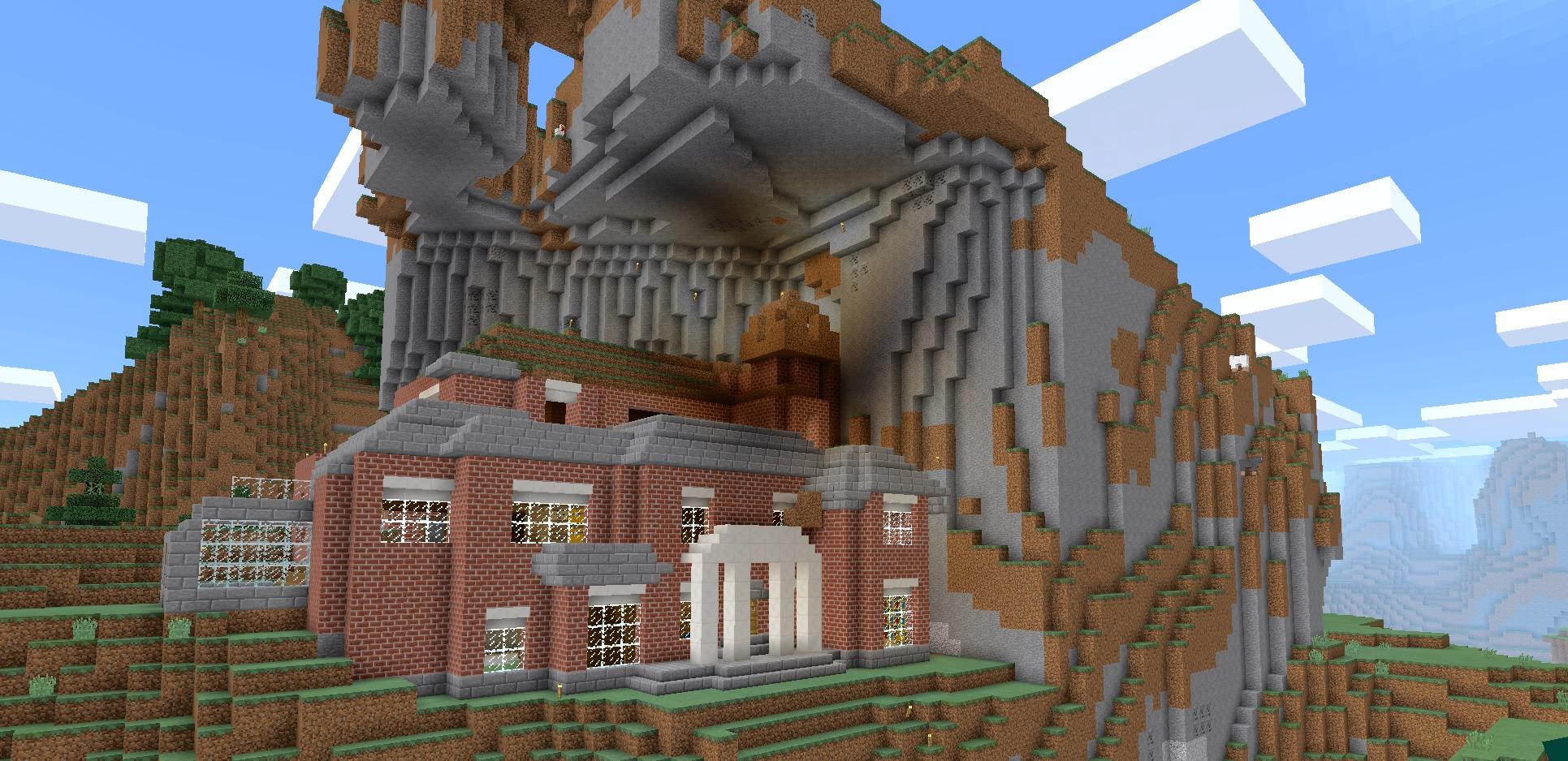 Minecraft: mountain mansion wip by planetarymap on DeviantArt