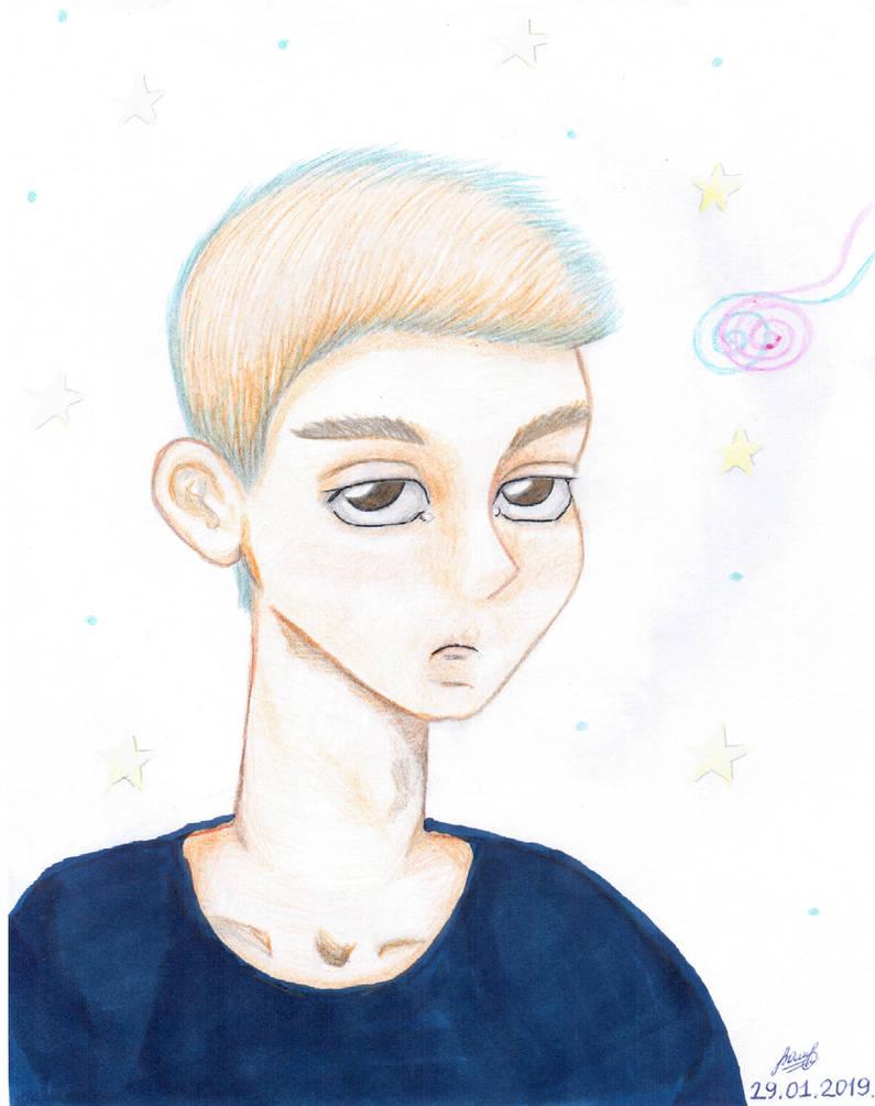 Displeased boy