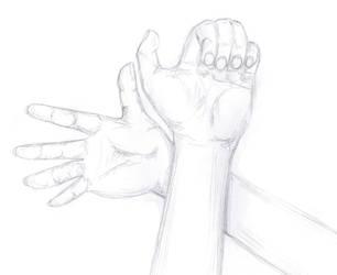My hands by Wiryneja