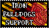 4C4: Iron Bulldogs Support! (Stamp) by cukikiuc123