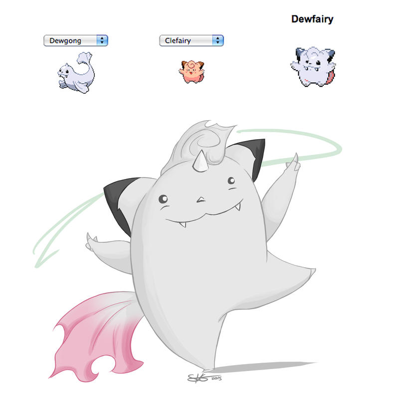 PokeFusion :: Dewfairy by Space-Jacket