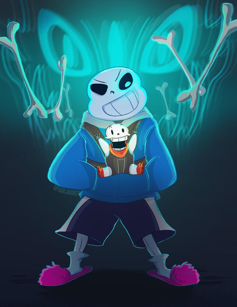 Undertale :: My Baby Bro (Artbook Entry) by SpaceJacket