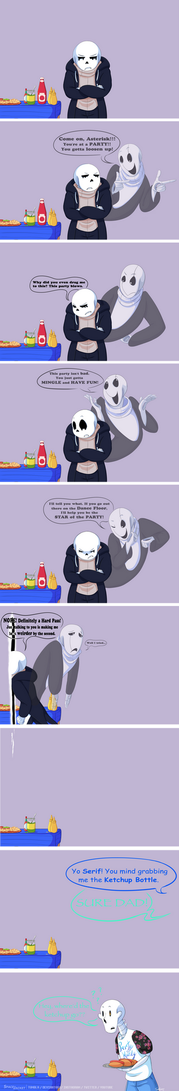 Undertale:: ParaverseTale:: Party's Over Asterisk by SpaceJacket