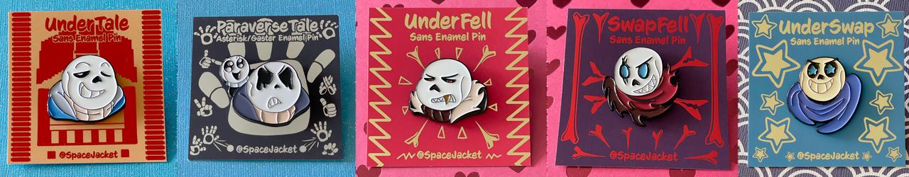 UnderTale AUs Soft Enamel Pins