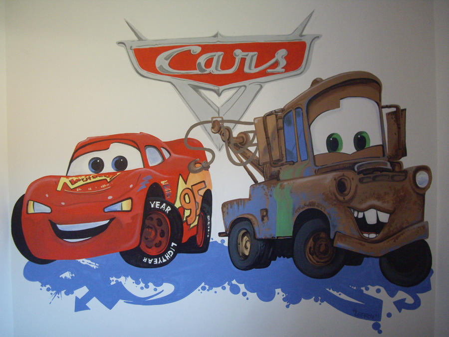 Pixar cars mural by customartwerk on deviantart for Disney cars mural uk