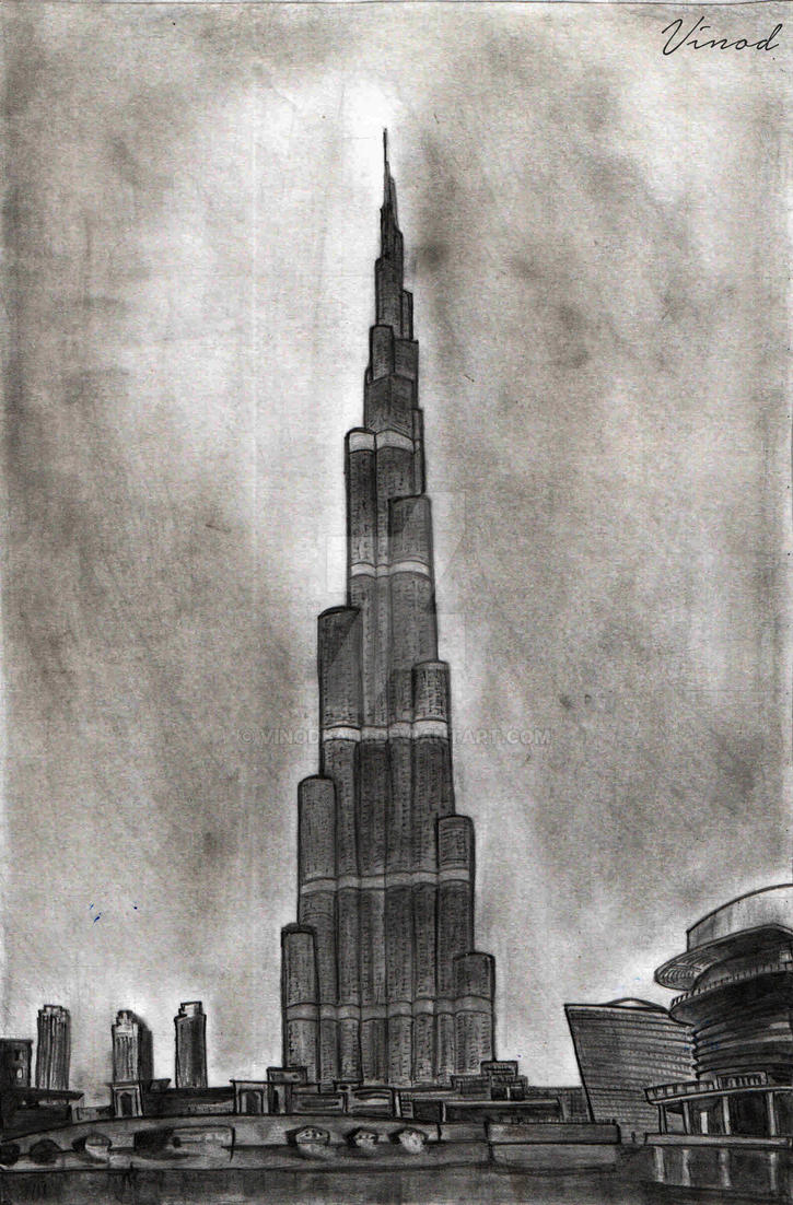 Burj khalifa by vinodbad1 on deviantart for Burj khalifa sketch