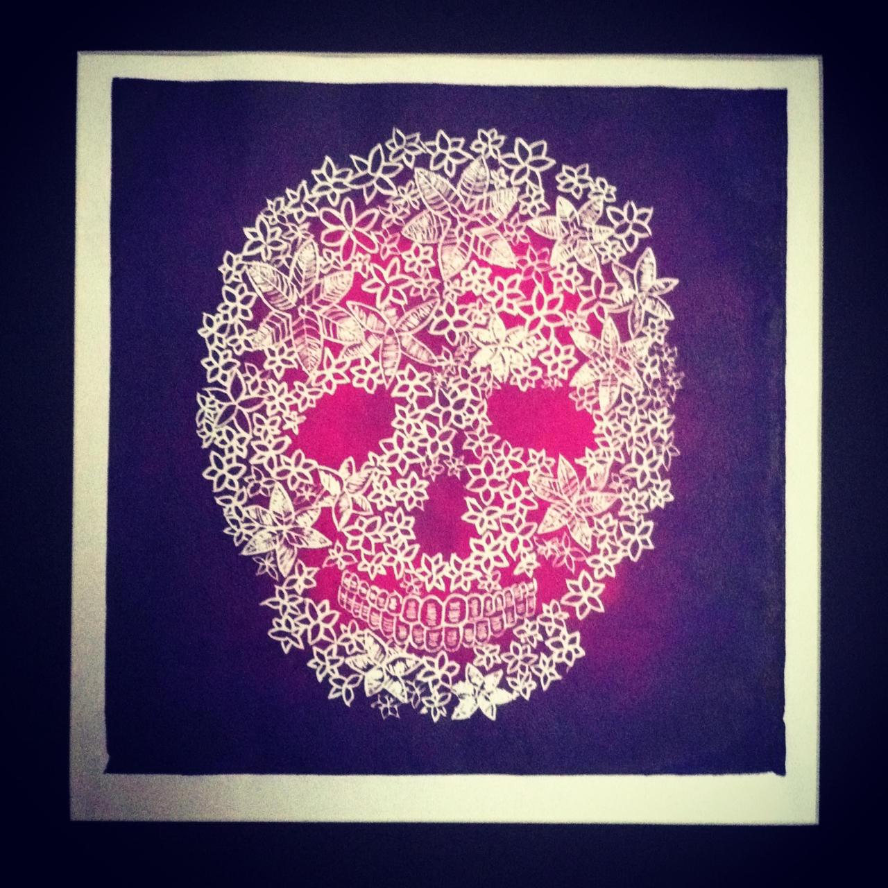 Flower Skull by ryscott on DeviantArt